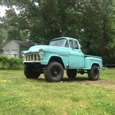55 Chevy 4x4 57 Chevy Trucks, Jeep Pickup Truck, Vintage Pickup Trucks, Chevy 4x4, Classic Pickup Trucks, Gm Trucks, Chevy Pickups, Lifted Trucks, Small Trucks