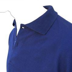 Chomba Lisa Cuello Polo de Piqué Azul Marino por Mayor Las Chombas Cuello  Polo son ideales para Uniformes de Trabajo 0aec945c1df5b