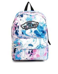Vans Realm Backpack in Marble Print