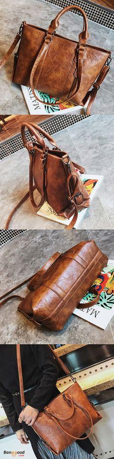 69%OFF&Free shipping. Crossbody Bag, Shoulder Bag, Tote Bag, Casual,  Soft, Vintage. Color: Black, Brown, Grey, Pink. Shop now~