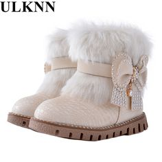 ULKNN Butterfly-knot girls snow boots winter warm Flat with round toe zip kids shoes baby beige black boot size pink plush - Kid Shop Global - Kids & Baby Shop Online - baby & kids clothing, toys for baby & kid Fashion Kids, Kids Winter Fashion, Baby Boy Fashion, Fall Fashion, Baby Boots, Baby Girl Shoes, Girls Shoes, Kids Clothes Sale, Kids Clothing
