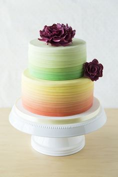 Ombre Cake - The icing on this cake is stunning!