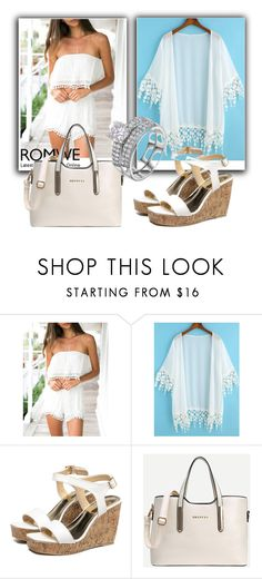 """""""Romwe V/3"""" by dzemila-c ❤ liked on Polyvore featuring romwe"""