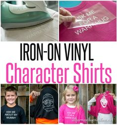 DIY CRAFTS | Custom pull over your head character shirts with free Silhouette cut file!