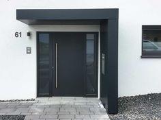# Front door canopy # Front door # Entrance canopy - New Deko Sites Door Entrance Canopy, Front Door Canopy, Front Door Entrance, House Entrance, Entry Doors, Garage Doors, Garage Design, Door Design, House Design