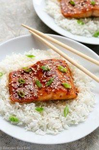 Asian Honey Sriracha Salmon | Everyday Easy Eats