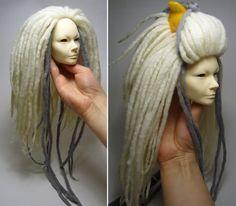 Wig with dreadlocks for dolls.Tutorial.