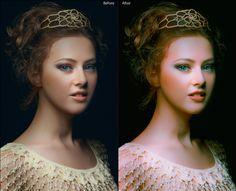 Portrait Enhance - Green and Purple Glow Lightroom Presets Free!