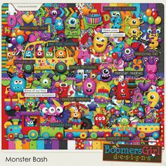 "BoomersGirl Designs: ""Monster Bash"" - Fun New Birthday / Party Themed Kit!"