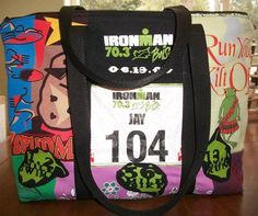 what a great idea for old race shirts and bibs!