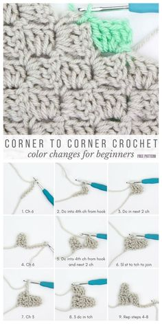 Crochet For Beginners How to Crochet Corner to Corner For Beginner Tutorial - Crochet Southwestern Style Graphghan Blanket Free Pattern Crochet Stitches For Beginners, Beginner Crochet Tutorial, Crochet Stitches Patterns, Knitting For Beginners, Crocheting For Beginners Tutorial, Crotchet For Beginners, Free Crochet Patterns For Beginners, Crochet C2c Pattern, Crochet Stitches For Blankets