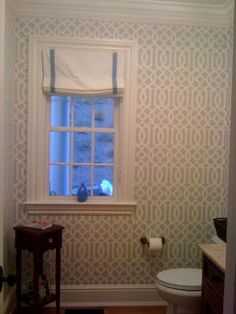 bathrooms Kelly Wearstler Charcoal Imperial Trellis Wallpaper JCP