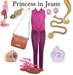 Modern Disney Princess Outfits   ... rapunzel disney disney princess disneybound fashion outfit of the day