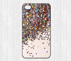 Glitter iPhone 4 Case,Sparkle Glitter iPhone 4 4g 4s Hard Case,cover skin case for iphone 4/4g/4s case,More styles - Printed Glitter Image
