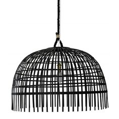 Description: This pendant brings new meaning to textured lighting. An open-weave bamboo style basket with a coordinating hand-spun rope. Note: Ligh...