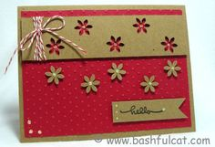 #papercraft #card Kraft flowers by BashfulStamper - Cards and Paper Crafts at Splitcoaststampers