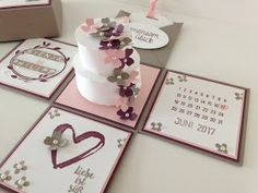 Maike's Stempelstube: Immer wieder faszinierend... Place Cards, Place Card Holders, Little Flowers, Blogging, Marriage Anniversary, Projects