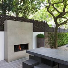 New No Cost utepeis Outdoor Fireplace Thoughts Regardless how much an individual style and design your house contained in the product; it's your outdoor desi. Contemporary Outdoor Fireplaces, Outdoor Decor, Backyard Design, Outdoor Rooms, Modern Outdoor, Modern Garden, Contemporary Outdoor, Modern Outdoor Fireplace