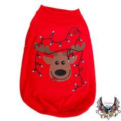 Bret Michaels Pets Rock™ LED Reindeer Hoodie   Sweaters & Coats   PetSmart