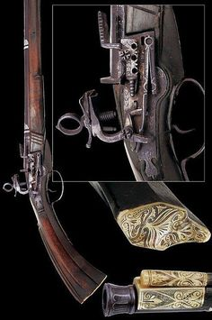 A rare and early miquelet flintlock gun dating late 17th Century provenance Ottoman Empire