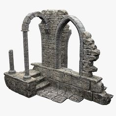 old medieval house model 3d Fantasy, Fantasy Castle, Fantasy Landscape, Medieval Fantasy, Dessin My Little Pony, German Houses, House 3d Model, Hirst Arts, Medieval Houses