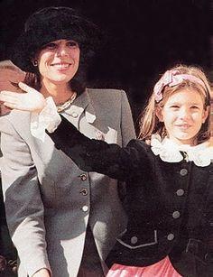 Princesse Caroline de Monaco, avec sa fille,  Charlotte