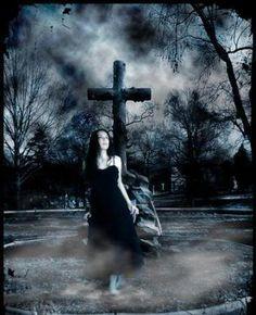 Something Fake images of girls in graveyards