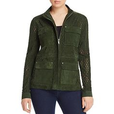 """Elie Tahari: classic apparel in refined fabrics with unforgettable details for the professional wardrobe. This Elie Tahari Jacket is guaranteed authentic. It's crafted with 100% Lamb Suede.       Famous Words of Inspiration...""""Which painting in the National Gallery...  More details at https://jackets-lovers.bestselleroutlets.com/ladies-coats-jackets-vests/casual-jackets/product-review-for-elie-tahari-womens-lamb-suede-cut-out-jacket/"""