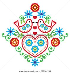 embroidery patterns scandinavian - Buscar con Google