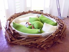 Giant Birdsnest, An Enormous Cozy & Fun Nest-Like Piece of Furniture