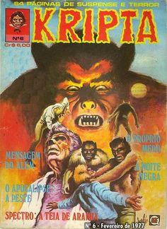 Revista Kripta #6 - RGE (1976) - Quadrinhos de terror, suspense, ficção e sobrenatural