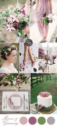 romantic mauve , pink organic botanical outdoor wedding inspiration