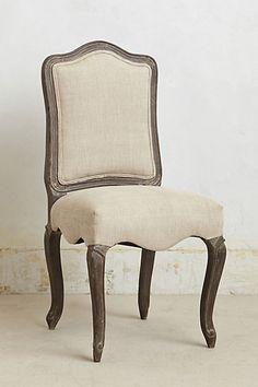 Linen Beatrix Dining Chair #anthropologie