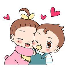 Baby Couple - Creators' Stickers
