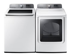 4.8 cu. ft. HE Top Load Washer & 7.4 cu ft. ELECTRIC Steam Dryer