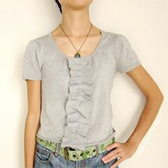 Have a cardigan that is out of shape? Refashion it into a new top under an hour using this easy tutorial.