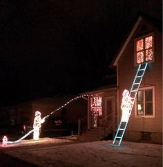 This firefighter decorated his house a little differently this year.