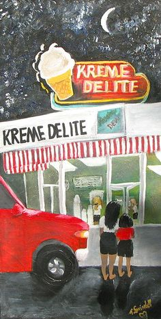 Kreme Delite (Oil on Canvas) by Tina Swindell