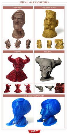 3D-Printed Sculptures by Ola Sundberg  #3dprinting #3dprinted #sculptures #design