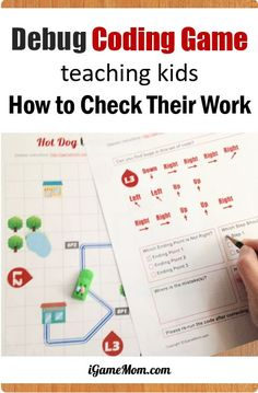 Printable Computer coding game teaching kids debug, finding and fixing program errors, fun off-screen coding activity for problem solving skills | learn programming unplugged | hour of code | STEM