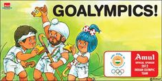 The Amul girl seen celebrating with the Indian men's hockey team as they secured a berth for the 2012 London Olympics, thrashing France 8-1 in the final of the qualifiers