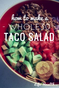 Don't miss this tasty & compliant taco salad recipe!