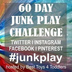 60 Day Junk Play Challenge - join in! Check out all the creative play ideas.
