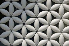 Japanese Ceramic Tiles, Tiles, Flower Circle Pattern A