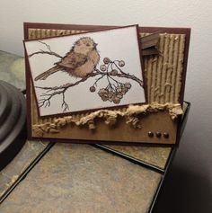 "Stampendous ""Snow Bird"" card"