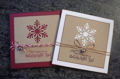 Christmas cards. Would make nice thank you cards too.