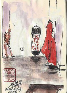 Estudio/Tienda de la Diseñadora Fely Campo. Salamanca.  http://cuadernosdepintor.blogspot.com.es/