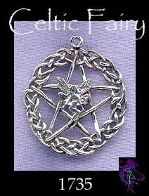 Sterling Silver Celtic Fairy Pentacle Pendant, Wholesale Pagan Jewelry | Silver Enchantments