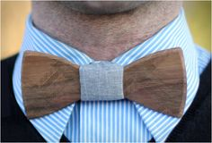 Fresh and original...Wooden Bow Ties!
