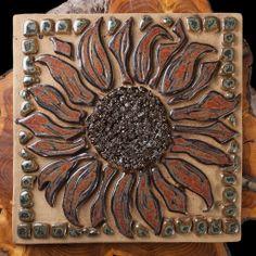 "Sunflower Plaque - ""Cake"""